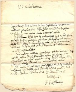 라이프니츠가 자신을 표절로 고발한 존 케일에게 1716년 3월에 보낸 편지. 뉴턴의 초기 작품과 자기 발명의 접근이 달랐다고 주장하는 내용이다. - wikimedia.org 제공